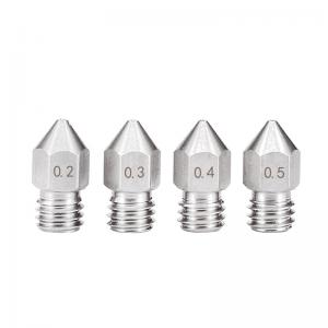 China 0.3mm 0.6mm 1.2mm MK8 Stainless Steel Nozzle 3D Printer GT2 pitch wholesale