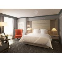Commercial Hotel Outlet Furniture , Modern White Bedroom Furniture Highly Endurable