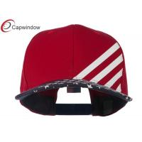 China Red Cotton Twill Flat Bill USA Flag Snapback Baseball Caps with Plasic Snap wholesale