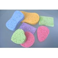 China Strong Water Sbsorbing Swelling Cellulose Bath Sponge , Cosmetic  Facial Cleansing Sponges wholesale