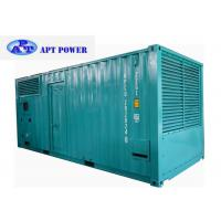 China 756kVA genset Diesel Engine Generator Installed Inside 20ft Soundproof Canopy wholesale