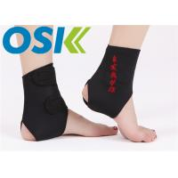 China Adjustable Self Heating Tourmaline Elastic Ankle Support With Compression Strap wholesale