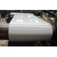 China EN10142 RAL9002 Color Coated Steel Coils , White Prepainted PPGI Steel Coil wholesale