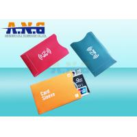China RFID blocking Aluminium sleeve / RFID sleeves prevent electronic pick-pocketing on sale