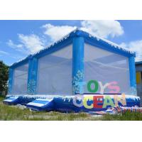 China Snow Christmas Inflatable Bounce House Inflatable Ocean Balls Pool For Kids wholesale