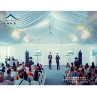 China Huge Outdoor High Peak Pavilion Wedding Party Tent 25 X 30m Decorated With Curtains And Linings wholesale