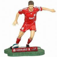 China Soccer character action figure, made of PVC, PP and ABS wholesale