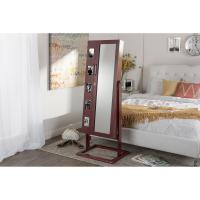 China Full Length Mirror With Jewelry Storage With Lock Up / Photo Holders wholesale