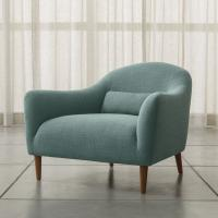 China Armed Carlo Mid-Century Fabric Chair in Optional Colors for Living Room wholesale