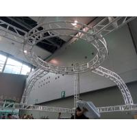 China Aluminum Screw Circular Lighting Truss For Exhibition On Truss Top wholesale