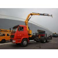 Buy cheap XCMG 5 Ton Transportation Folding Boom Crane / Lorry Mounted telescopic mobile crane from wholesalers