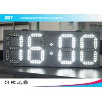 China White And White Led Clock Digital Clocks With Large Display , Long Lifespan wholesale