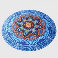 China Customized pattern Mandala printed round yoga mat natural rubber mat meditation mat wholesale