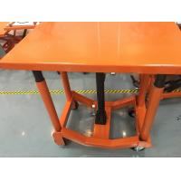 China Orange Post Mobile Scissor Lift Table High Strength For Air Conditioning wholesale