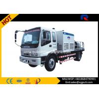 China Air Cooling Stable Mobile Concrete Mixer With Pump Filling Height 1450mm wholesale
