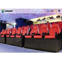China Entertainment Park 12D Cinema XD Theatre With 3 DOF Electric Chairs 180KG on sale
