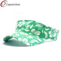 China Hawaiian Tennis Sun Visors Nice Printing Flowers , Chino Cotton Twill wholesale