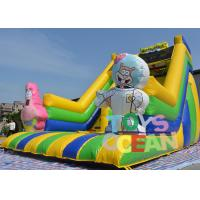 China 8X4.5X6.3M 0.55MM PVC Colorful Inflatable Sponge Bob Slide For Fun wholesale