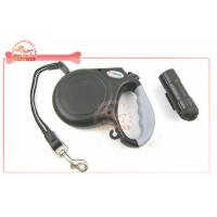 China Detachable Safety Led Flashlight Retractable Cord Dog Leash With Soft grip Handle wholesale