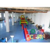 China Children Inflatable Obstacle Course Equipment 0.55mm PVC Tarpaulin Racing Tunnel wholesale