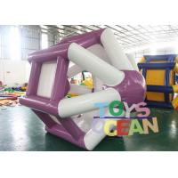 China Large Inflatable Water Cylinder Roller Wheel Hamster Ball For Adult / Kids wholesale