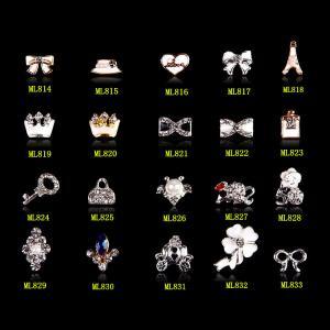 China Alloy Jewelry 3D DIY Rhinestone Nail Art Glitters Slices ML814-833 on sale