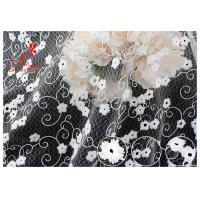 Buy cheap Allover Floral Embroidered Mesh Lace Fabric With Poly Milky Silk By 100% Inspect from wholesalers