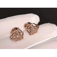 Quality Piaget brand jewelry 18kt Rose earrings in 18K rose gold set with 2 brilliant for sale