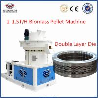2017 Efficient CE Vertical Ring Die 90kw 6mm 8mm Wood Pellet Making Machine