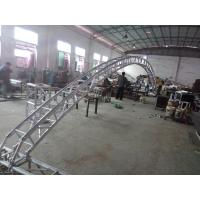 China Black 300*300*12m Length Arch Spigot Connection Aluminum Stage Truss Strong Loading Capacity wholesale