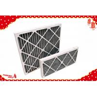 China 595x595x46mm G4 F5 cardboard activated carbon replaceable panel pleated pre filter wholesale