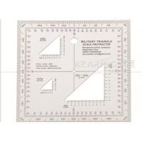 China Military Triangle Scale Protractor 11cmx11cm square set sandwich line printing for militry KMP-2 wholesale