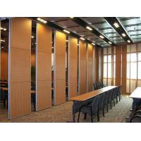 China Multi Color Wood Sound Proof Partitions with Aluminium Profile / Sliding Room Dividers on sale
