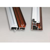 China Wood Finish Structural Aluminium Extrusions Windows Profile Anti Corrosion wholesale