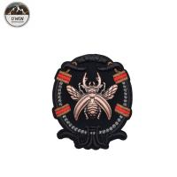 China Eco Friendly Bumble Bee Embroidered Patch , Sew On Style Custom Uniform Patches on sale