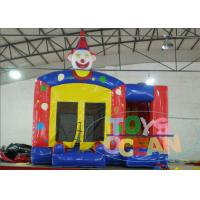 China Backyard Small Inflatable Funny Crown Happy Hop Jumping Castle With Mini Slide wholesale