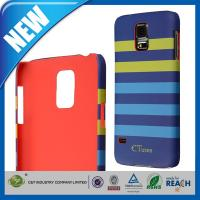 China  Dual Color Stripes Pattern Hard Samsung Cell Phone Cases For Galaxy S5  for sale