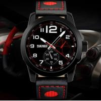 China Fashion Men Speed Way Elite Racing  Quartz Wrist Watch WR 50M Leather Strap Sport Watch 9111 wholesale