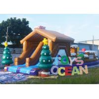 China Large Christmas Inflatable Playground Snowman Bounce Obstacle Course For Carnival wholesale