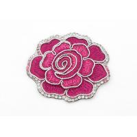China Clothing Appliques Flower Embroidery Patches Peony Pattern Exquisite Elegant wholesale