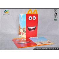China Custom Made Cardboard Takeaway Boxes Glossy Lamination Finish For Fast Food wholesale