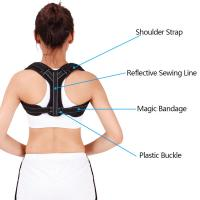China Comfortable Adjustable Shoulder Brace Upper Back Brace Magnetic Posture Corrector wholesale
