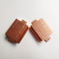 Electroplated Cold Plate Bonded Fin Heat Sink , Copper CPU Small Led Light Heat Sink