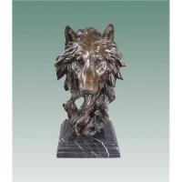 Antique Garden Decorative Bronze Wolf Head Sculpture