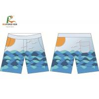 China Quick Dry Water Repellent Boardshorts Surf , Polyester Mens Beach Shorts wholesale