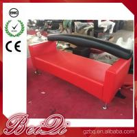 Quality 3 Seat Waiting Area Sofa Red Customers Chair Used Barber Shop Furniture Cheap for sale