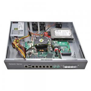 China 1U Rack Mounted Network Security Firewall PC LGA1150 CPU , Intel 6 LAN Card wholesale