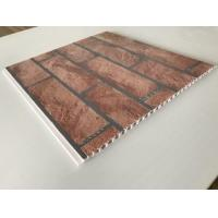 China Brick Decorative Plastic Wall Panels Hot Stamping X Hollow Core Structure wholesale