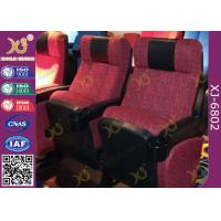 China ISO Certification Padding Armrest Folding Theater Seats With Flame Retardant Fabric wholesale