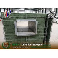 China Mil1 1.37m high Military Defensive Gabion Barrier with Green color Geotextile wholesale
